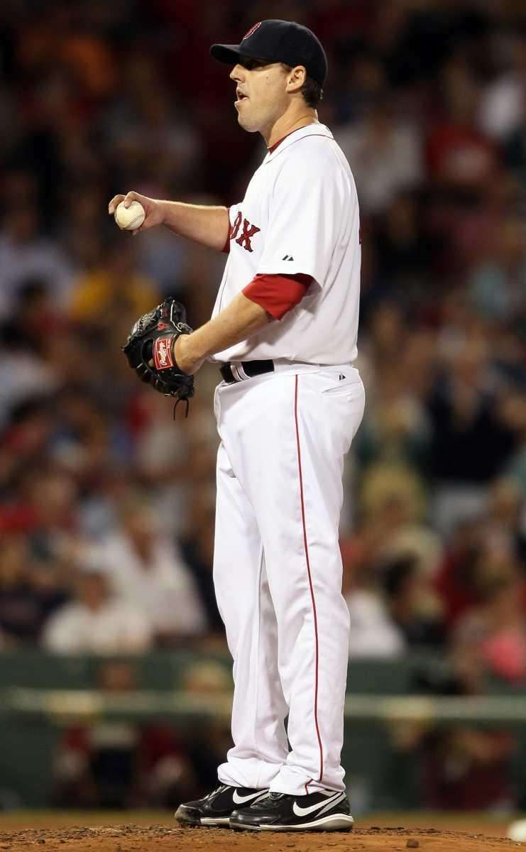 John Lackey #41 of the Boston Red Sox
