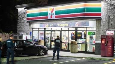Suffolk police respond to an armed robbery at
