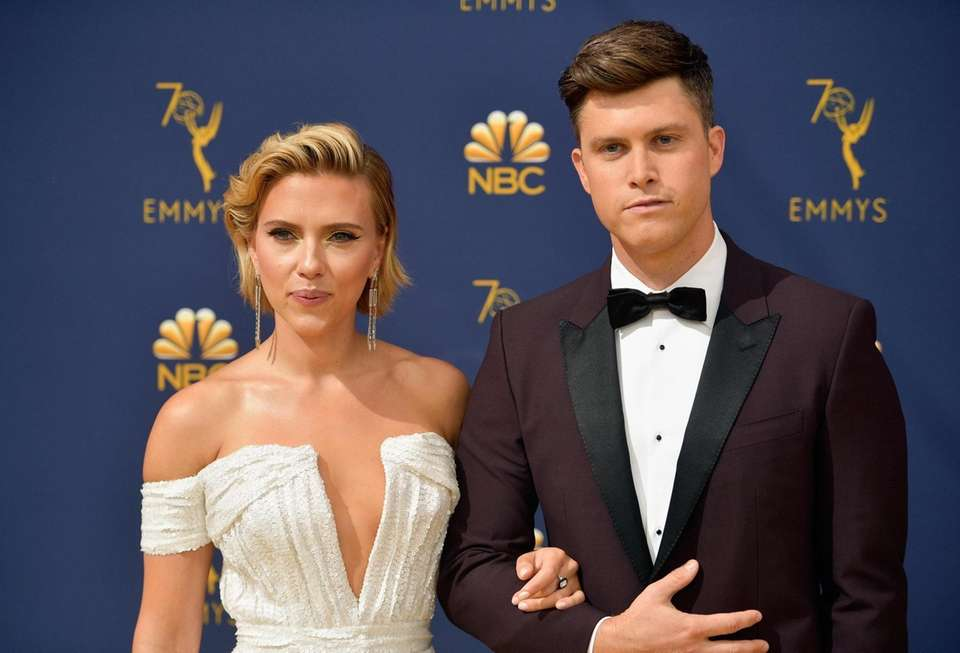 A-list actress Scarlett Johansson and Colin Jost of