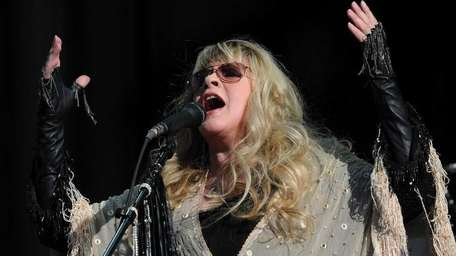 Stevie Nicks performs on the third day of