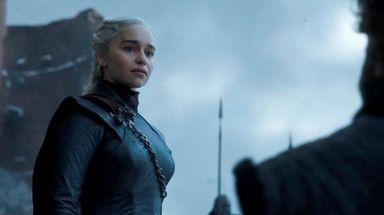 Emilia Clarke as Daenerys Targaryen in the season