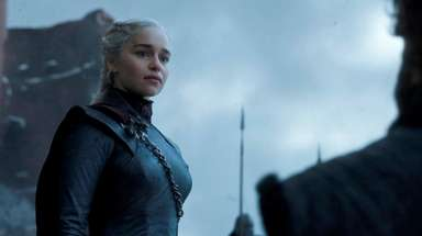 Emilia Clarke as Daenerys Targaryen in the season