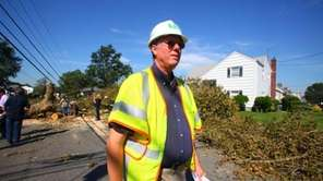 LIPA chief Michael Hervey walks through Florence Street