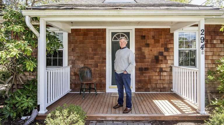 Lynn Lomas on the front porch of his
