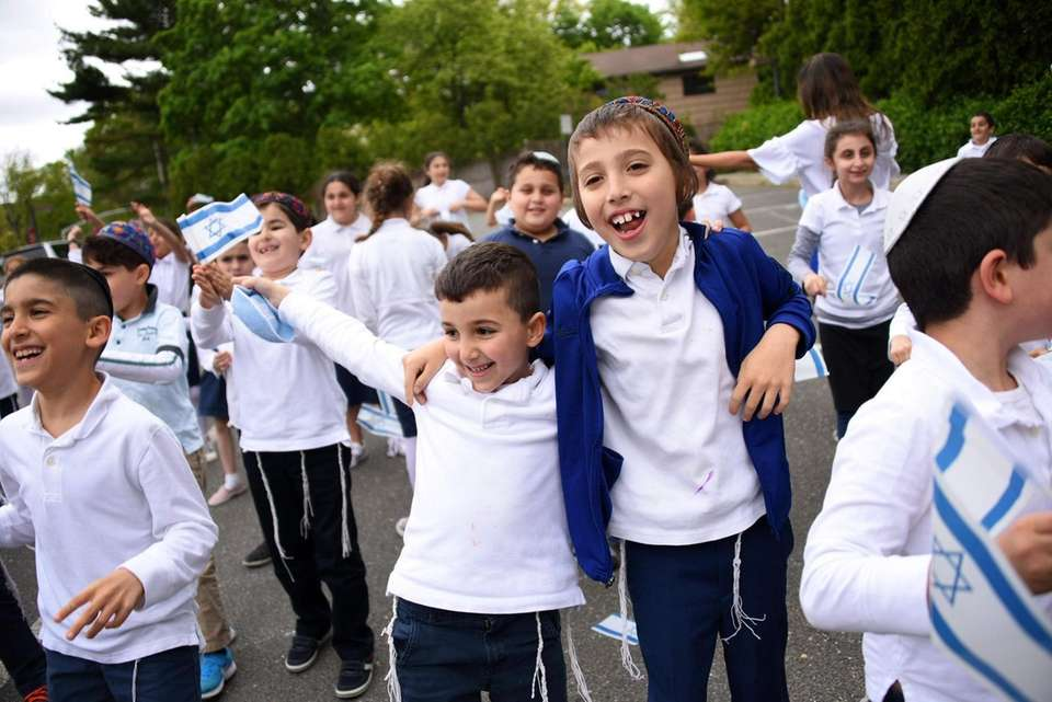Eyal Hiaeve, left, and Aaron Aronov, first-grade students