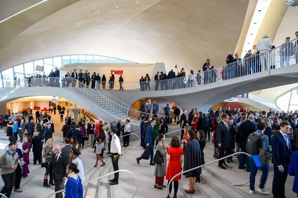 The ribbon cutting for the TWA Terminal at