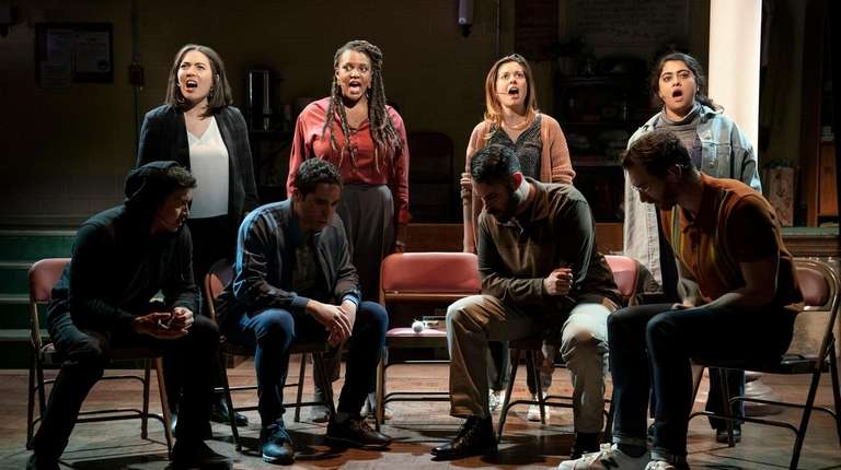 """The cast of Dave Malloy's """"Octet."""""""