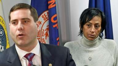 Suffolk District Attorney Timothy Sini, seen with Evelyn