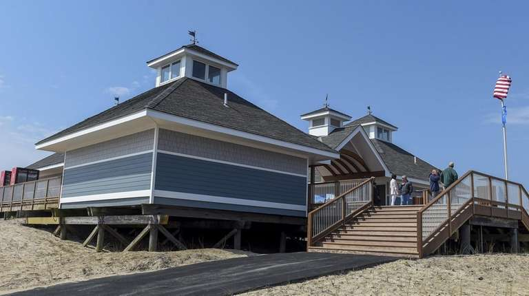The pavilion renovation also includes a new roof,
