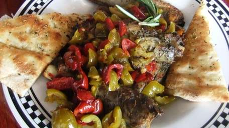 Pork ribs w/vinegar peppers at Anthony's Coal Fired