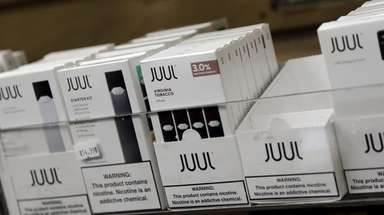 Juul products for sale are seen on Dec.