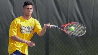 Jake Stadok of Commack competes in 4th Singles