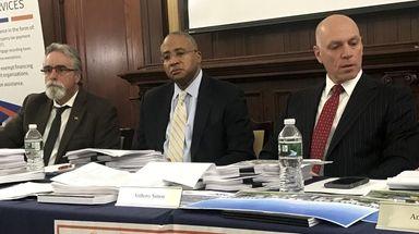 From left, Nassau County IDA board members Christopher