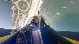 On Monday, stunt pilot David Windmiller showed some