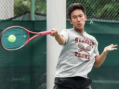 Brian Gao of Syosset competes in the Nassau