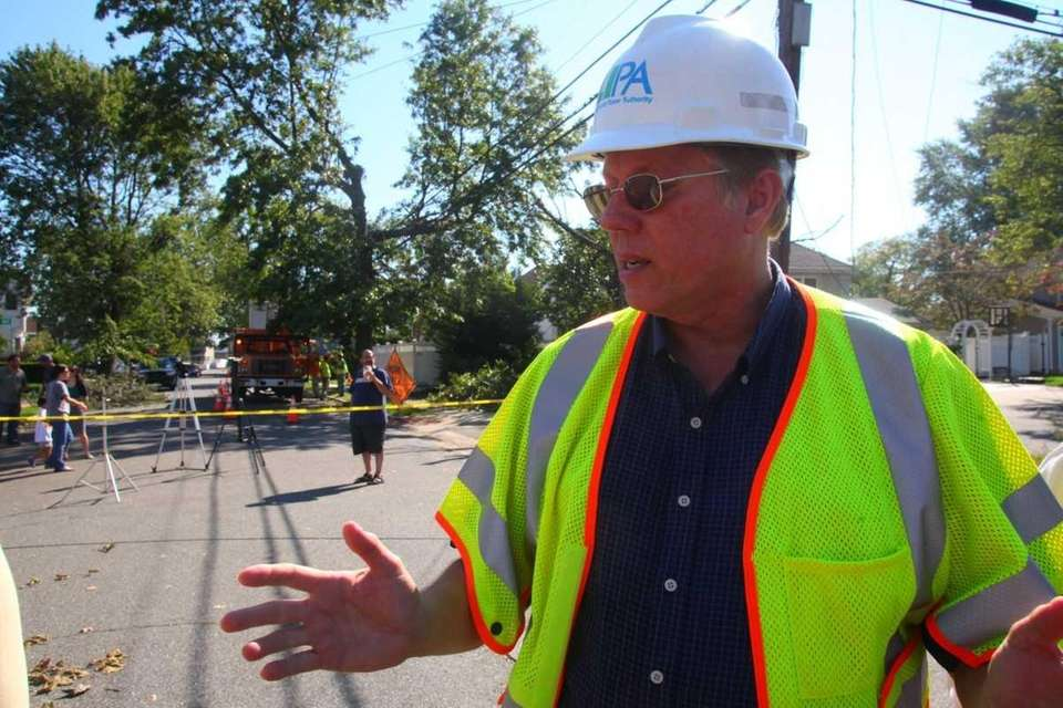 LIPA COO Michael Hervey walks through Florence Street