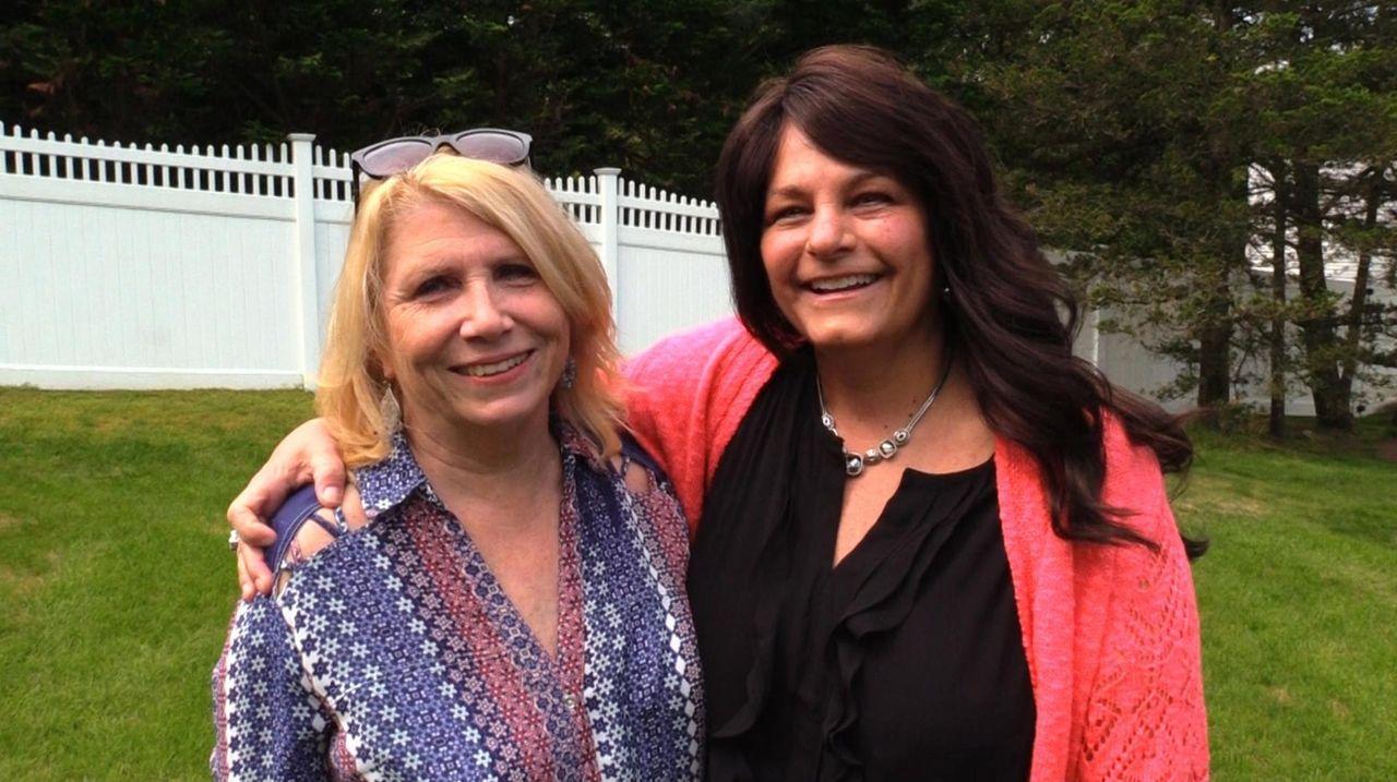 Lorraine Daly and MaryLou Gonzalez, of Lake Ronkonkoma,