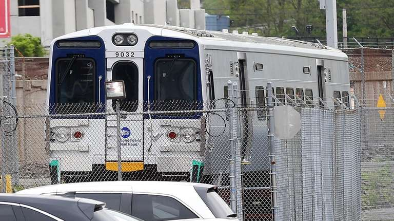 The newest fleet of LIRR trains, the M9s,