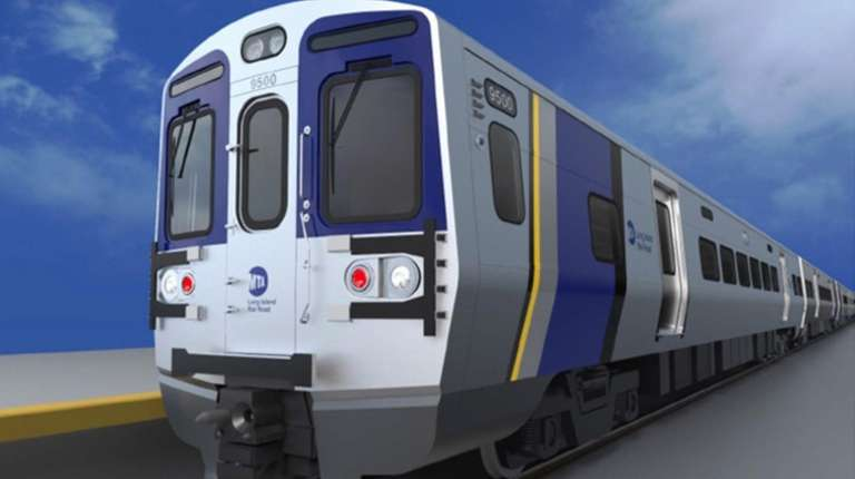 Rendering of the M9 rail cars for the