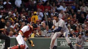 Derek Jeter of the New York Yankees takes