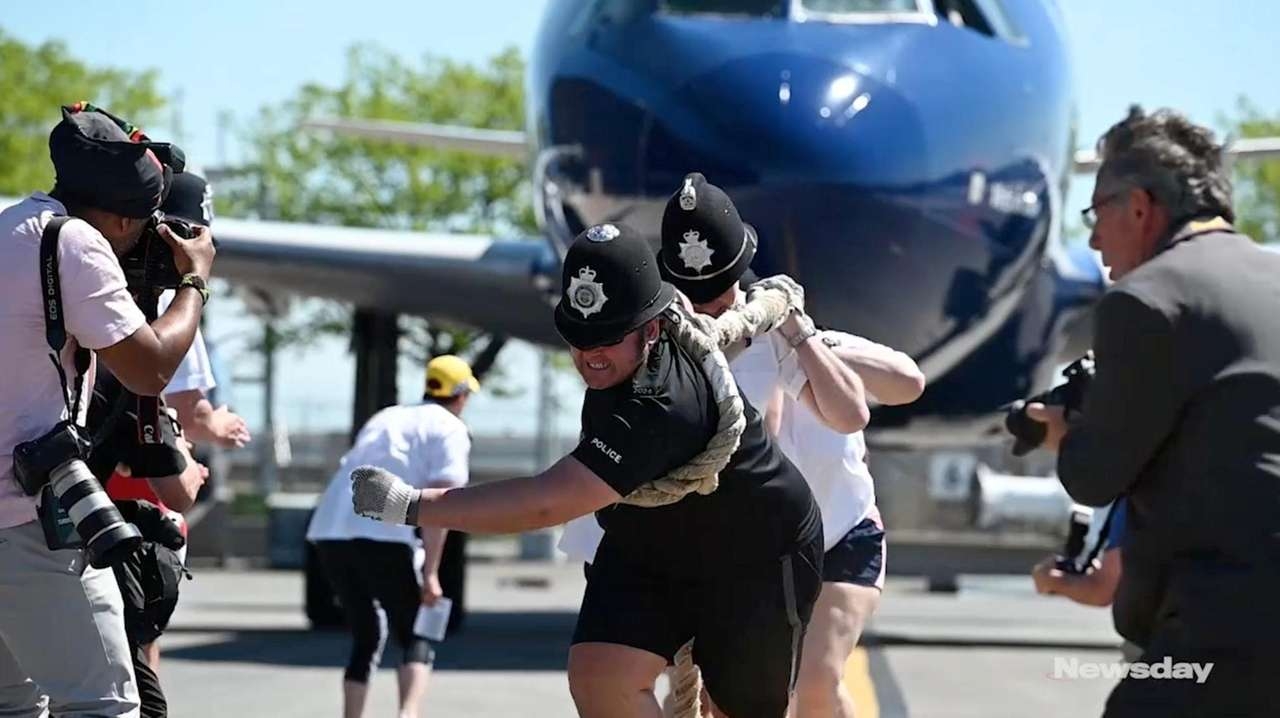 JetBlue hosted its annual a Plane Pull with