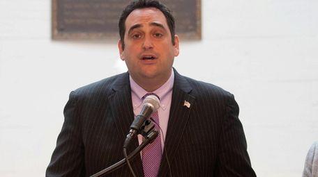 Huntington Supervisor Chad A. Lupinacci at a press