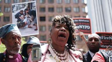Gwen Carr, mother of Eric Garner, joins others