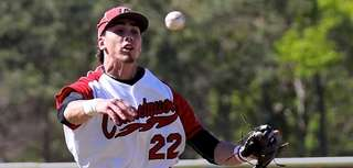 Connetquot shortstop Alex Ungar makes the leaping throw