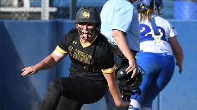 St. Anthony's Taylor Zatyk reacts after she scores