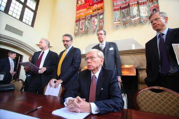 From left, NIFA members Leonard D. Steinman, Thomas