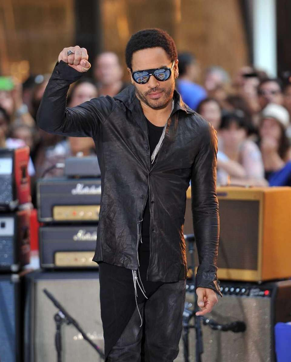 Lenny Kravitz performs on NBC's
