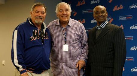 From left, former Mets Ron Swoboda, Ed Kranepool