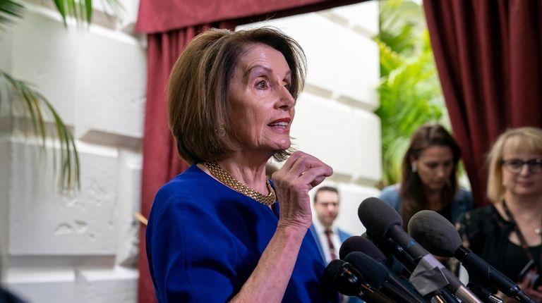 Speaker of the House Nancy Pelosi, D-Calif., responds