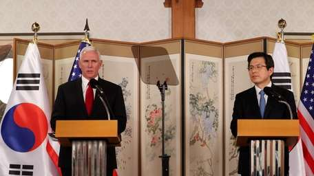 Vice President Mike Pence speaks during a joint