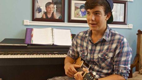 Mac Ayres, 14, a finalist in the Quaker