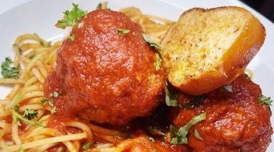 Tony Colombo's signature spaghetti and meatballs dish is