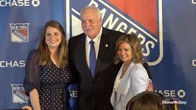 The Rangers introduced new team president John Davidson