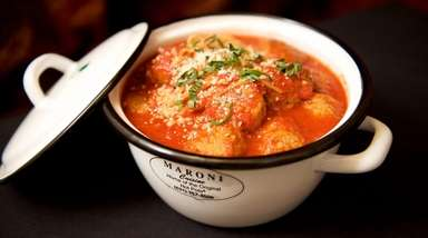 The heat-and-serve meatballs from Maroni Cuisine in Northport