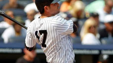 New York Yankees' Francisco Cervelli #17 hits a