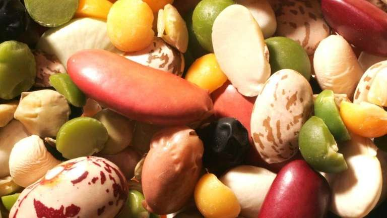 A high-fiber diet that includes beans and legumes,