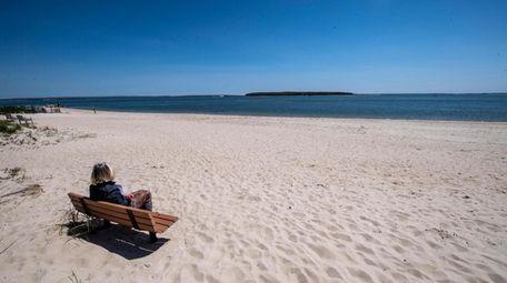 New Suffolk Beach in New Suffolk Wednesday May