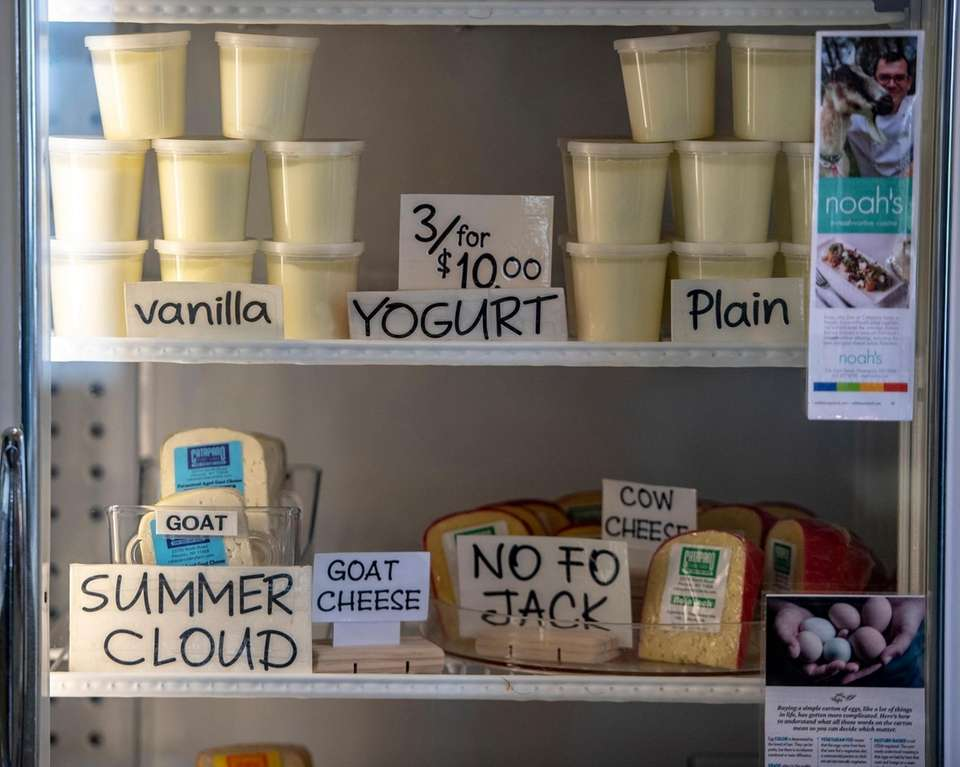 Products for sale at Catapano Dairy Farm in