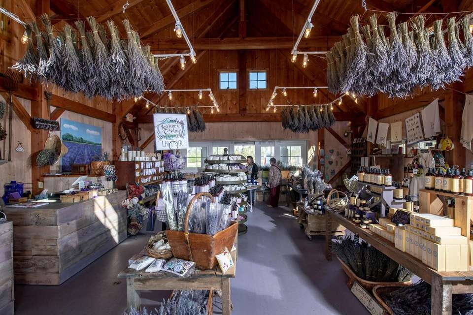 The store at Lavender Farm in East Marion