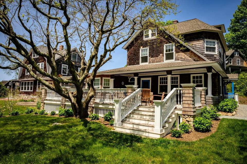 One of the beautiful homes on Fishers Island