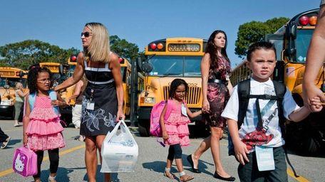 Students entering kindergarten through fourth grade enter the
