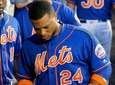 Robinson Cano of the New York Mets leaves