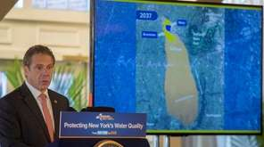 Gov. Andrew M. Cuomo speaks about the Bethpage
