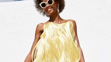 Living on the fringe: Fun, fringy frock turned