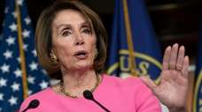 Speaker of the House Nancy Pelosi (D-Calif.) meets