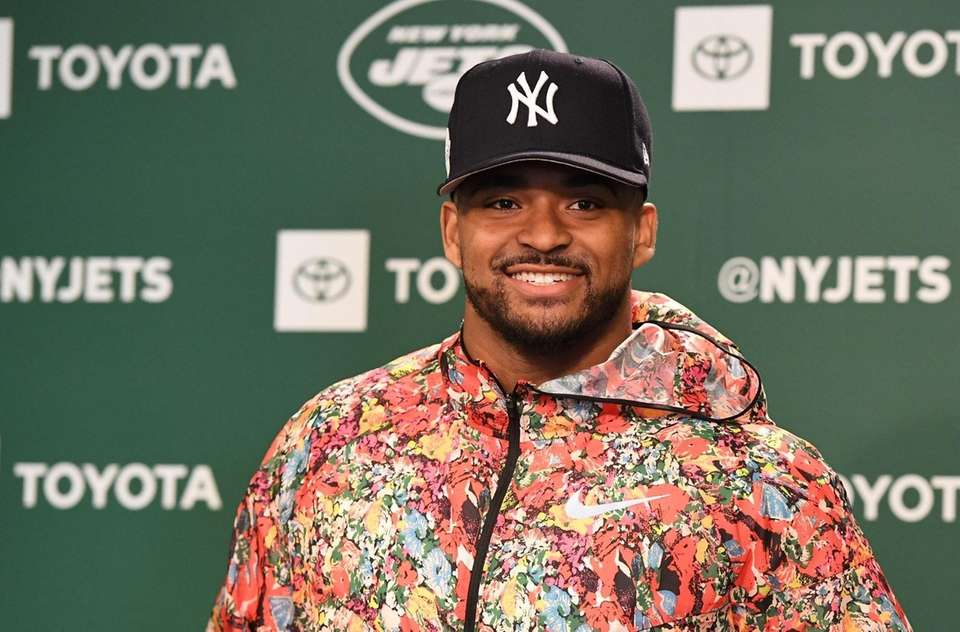 New York Jets safety Jamal Adams answers questions